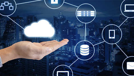 Managed IT Solutions Photo Hand holding cloud